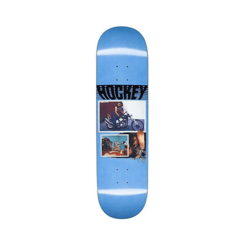 "Hockey Skateboard Deck Andrew Allen Biker 8.25"" x 31.94"" Blue-50-50 Skate Shop"