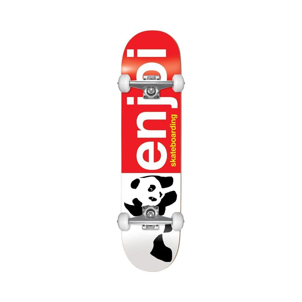 "Enjoi Skateboard Complete Half And Half Youth 7.0"" MIN Red-50-50 Skate Shop"