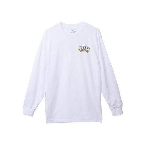 Baker Tee Oval Arch White Long Sleeve-50-50 Skate Shop