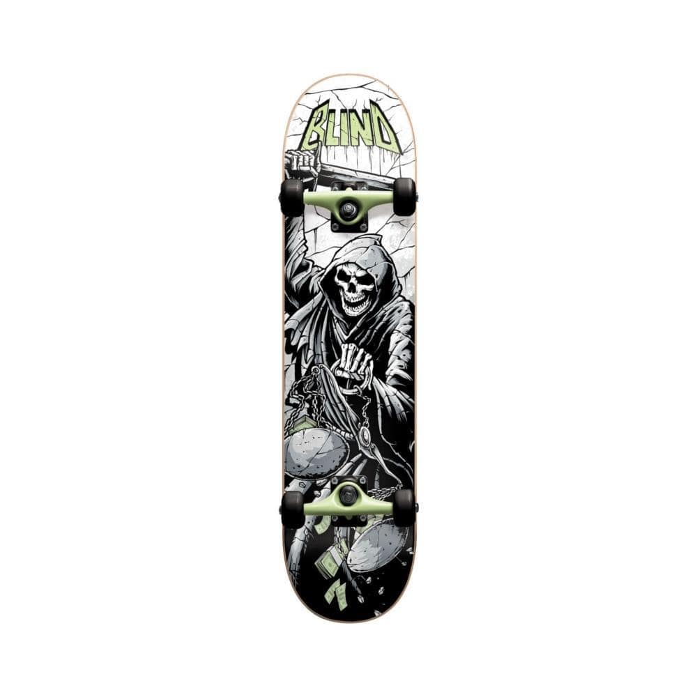 "Blind Skateboard Complete Justice Prem Youth 7.25"" MID Green - 50-50 Skate Shop"