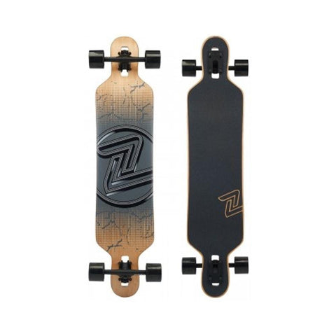 Z Flex Skateboard Cruiser Complete Drop Thru Cracked Black-50-50 Skate Shop