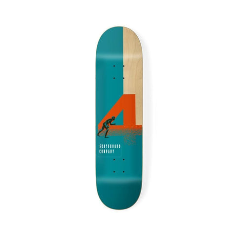 "4 Skateboard Skateboard Deck Naples Board Green 8.5"" - 50-50 Skate Shop"