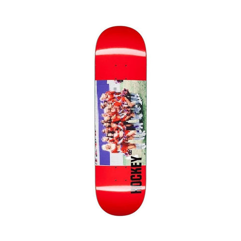 "Hockey Skateboard Deck Cheerleader 8.38"" x 31.85"" Red - 50-50 Skate Shop"