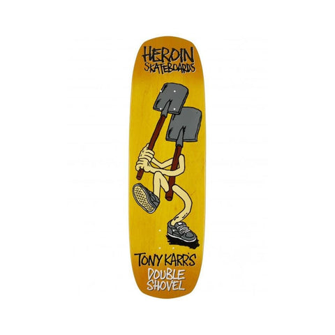 "Heroin Skateboard Deck Tony Karr Double Shovel 9.0"" x 31.8""-50-50 Skate Shop"