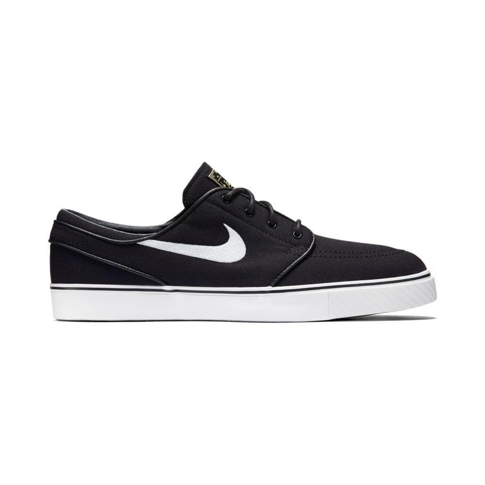 Nike Zoom Stefan Janoski Canvas Black White-50-50 Skate Shop