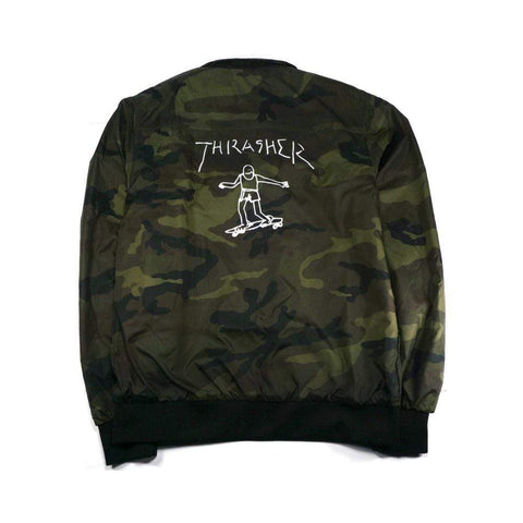 Thrasher Gonz Reversible Coach Jacket Black Camo
