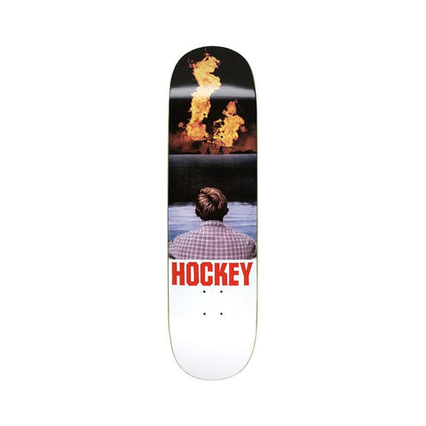 "Hockey Skateboard Deck John View 8.5"" x 33"" White - 50-50 Skate Shop"