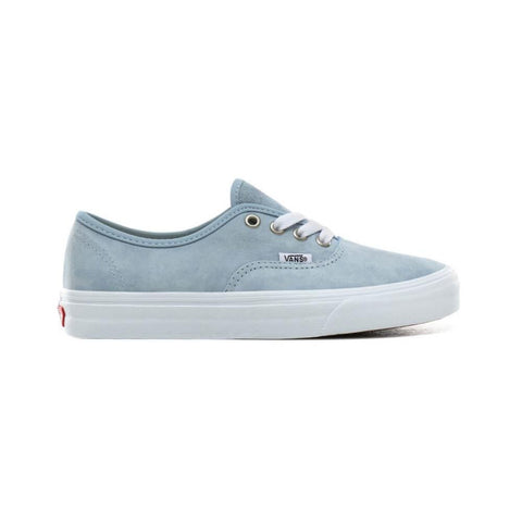 Vans Authentic Pig Suede Blue Fog True White-50-50 Skate Shop