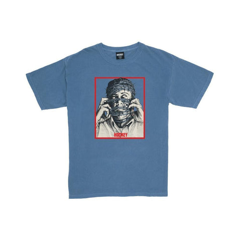 Hockey Barbwire T-Shirt Pigment Dyed Icey Blue - 50-50 Skate Shop