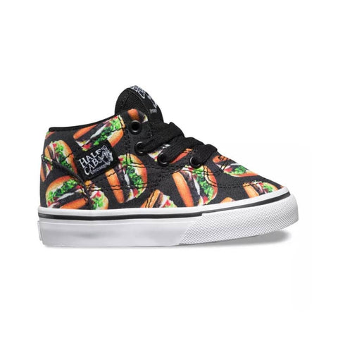 Vans Toddler Half Cab (Late Night) Black Hamburgers - 50-50 Skate Shop
