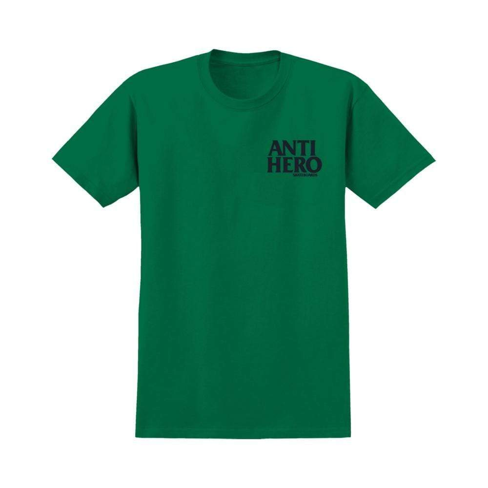 Anti hero Youth Tee Black Hero Kelly Green