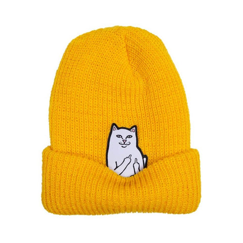 Ripndip Beanie Lord Nermal Rib Gold - 50-50 Skate Shop