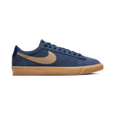Nike SB Blazer Low GT Midnight Navy Khaki Gum Light Brown-50-50 Skate Shop