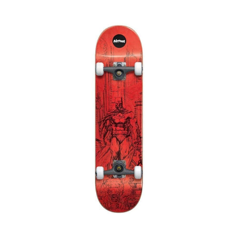 "Almost Skateboard Complete Jim Lee Batman Resin Premium 7.75"" FULL Red - 50-50 Skate Shop"
