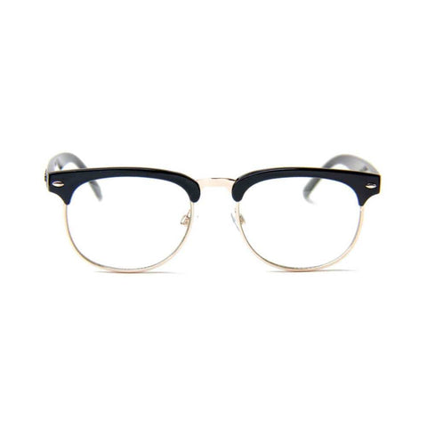 Happy Hour Sunglasses G2's Black Gloss Clear Lens-50-50 Skate Shop