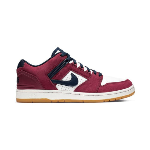 Nike SB Air Force II Low Team Red Obsidian White Summit White-50-50 Skate Shop