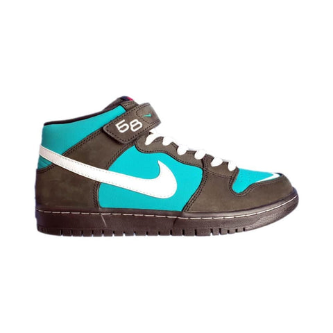 Nike SB Dunk Mid Pro Black White Black Fresh Water-50-50 Skate Shop