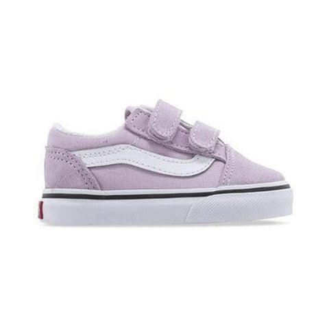 Vans Toddler Old Skool V Lilac Snow True White - 50-50 Skate Shop