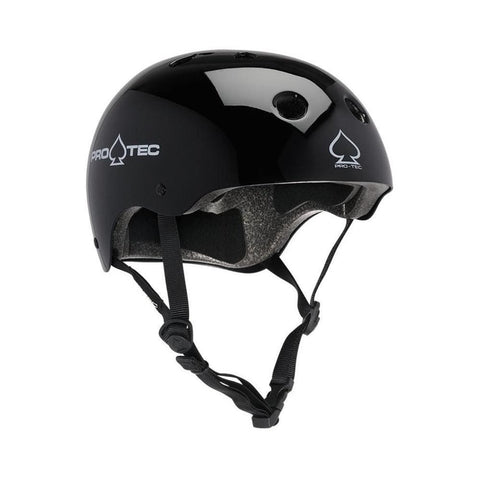 Pro Tec Classic Certified Skate Bike Helmet Gloss Black-50-50 Skate Shop