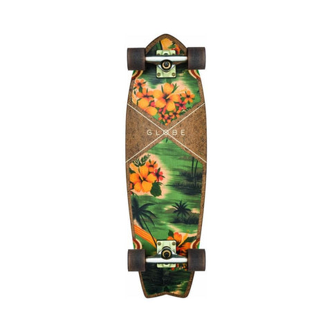 "Globe Skateboard Cruiser Complete Sun City 30"" Coconut/Hawaiian-50-50 Skate Shop"