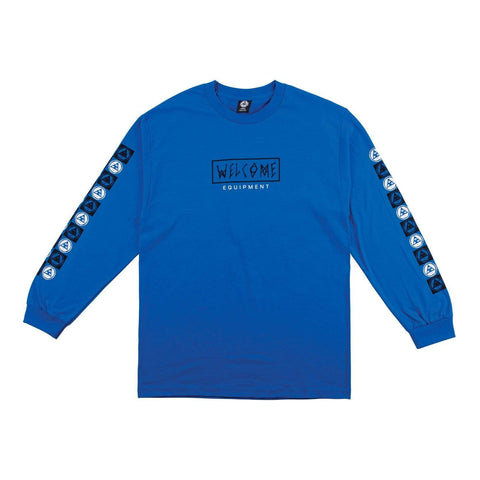 Welcome Eracer Long Sleeve Tee - Royal/Black - 50-50 Skate Shop