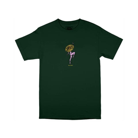 Passport Tee Floral Dancer Forest Green - 50-50 Skate Shop
