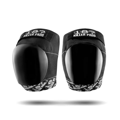 187 Pro Knee Black White-50-50 Skate Shop