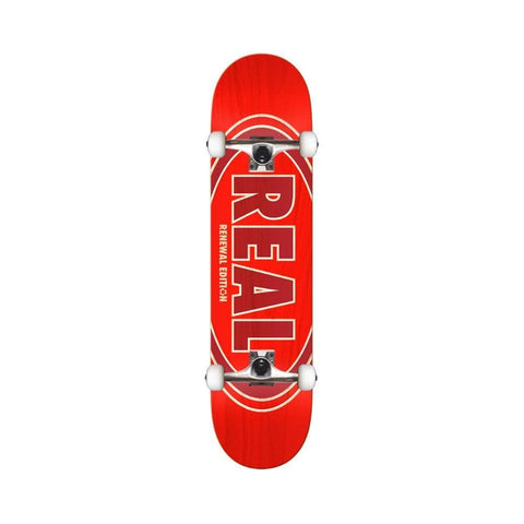 "Real Skateboard Complete Duofade Oval 8.06"" Red-50-50 Skate Shop"