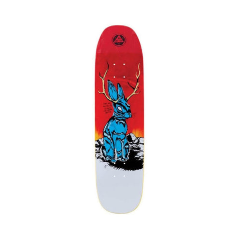 "Welcome Skateboard Deck Jackalope On Son Of Moontrimmer 8.25"" x 31.78"" Red White-50-50 Skate Shop"