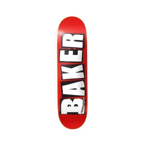 "Baker Skateboard Deck Team OG Logo Red White 8.3875"" x 32"" Mellow Concave - 50-50 Skate Shop"