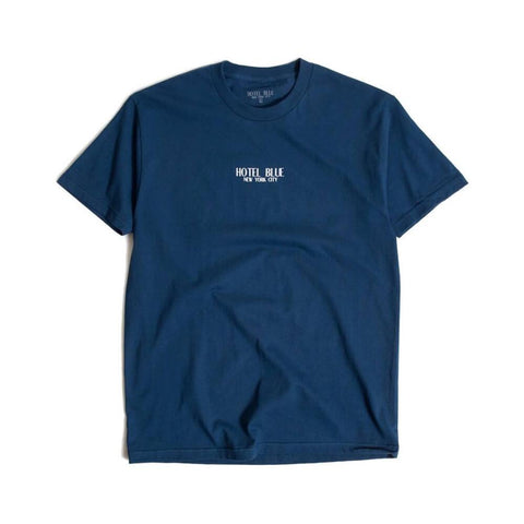 Hotel Blue Logo Short Sleeve Tee Harbor Blue - 50-50 Skate Shop