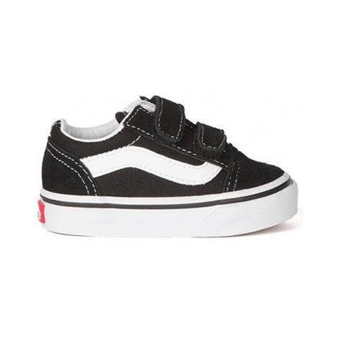 Vans Toddler Old Skool V Black White - 50-50 Skate Shop