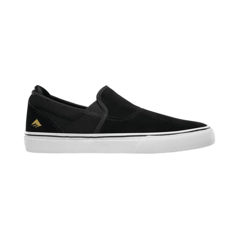 Emerica Wino G6 Slip On Black White Gold - 50-50 Skate Shop
