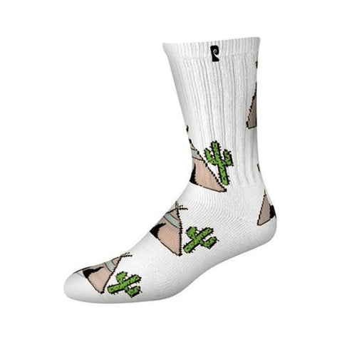 Psockadelic Peyotee Pee Socks White Black-50-50 Skate Shop