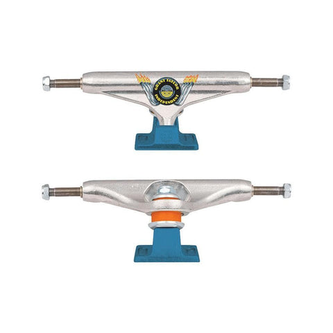 Independent Hollow Grant Taylor Engine Trucks 149mm Silver Blue (Pair) - 50-50 Skate Shop