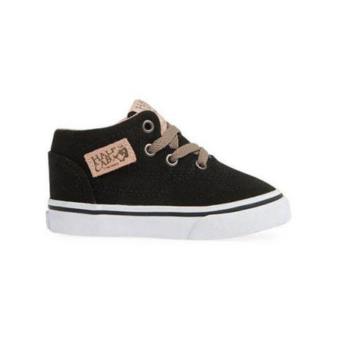 Vans Toddler Half Cab (Veggie Tan) Black True White - 50-50 Skate Shop