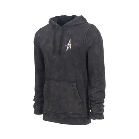 Altamont Icon Pull Over Fleece Black Wash-50-50 Skate Shop