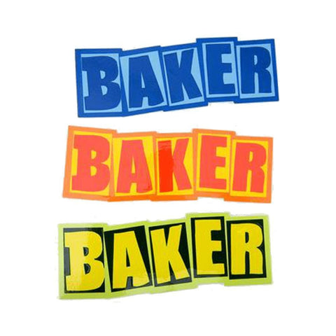 Baker Skate Stickers Baker Logo Single Assorted Stickers Each - 50-50 Skate Shop