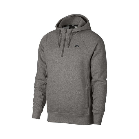 Nike SB Hoodie DK Grey Heather Black-50-50 Skate Shop