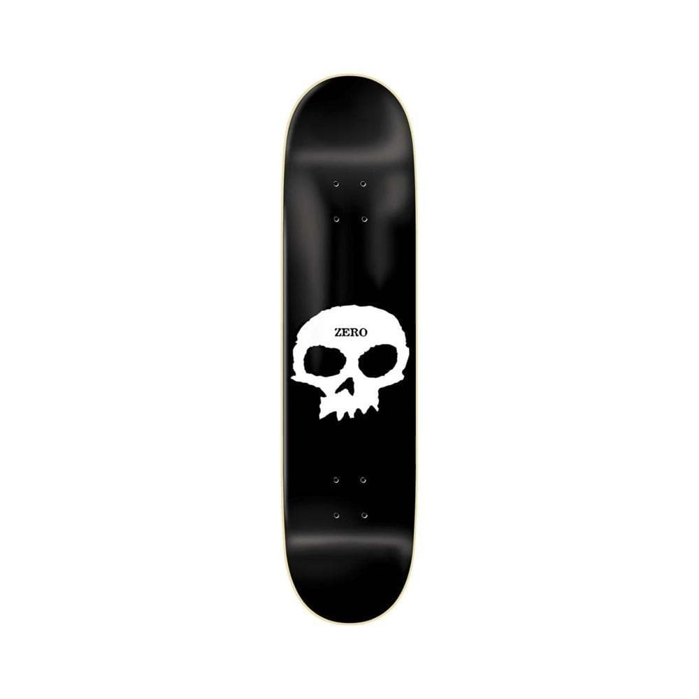 "Zero Single Skull R7 Black White 8.0"" - 50-50 Skate Shop"