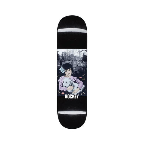 "Hockey Skateboard Deck Kevin Rodrigues Lamb Girl 8.18"" x 31.73"" Black - 50-50 Skate Shop"