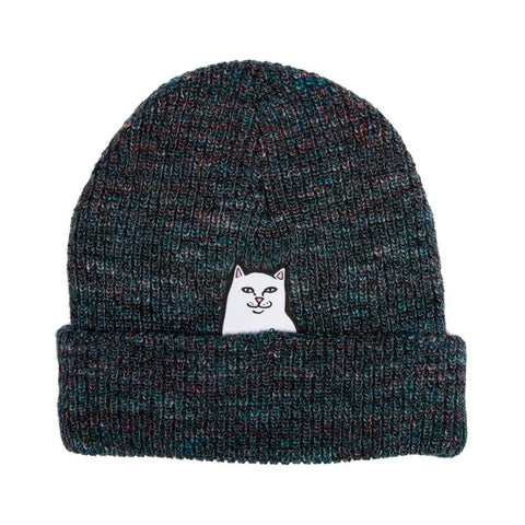 Ripndip Beanie Lord Nermal Rib Blue Speckle-50-50 Skate Shop