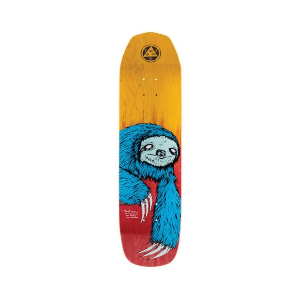 "Welcome Skateboard Deck Sloth On Vimana 8.38"" x 31.5"" Blue Fire Stain-50-50 Skate Shop"