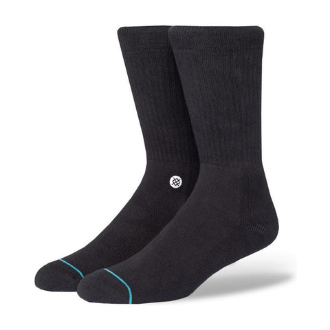 Stance Mens Icon Athletic Socks Black White-50-50 Skate Shop