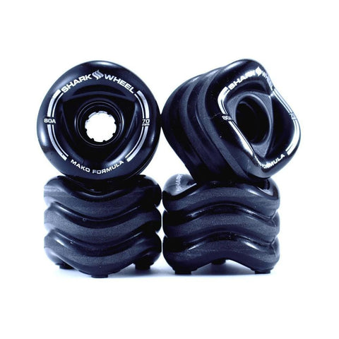 Shark Skateboard Wheels Mako Black 70mm x 80a-50-50 Skate Shop
