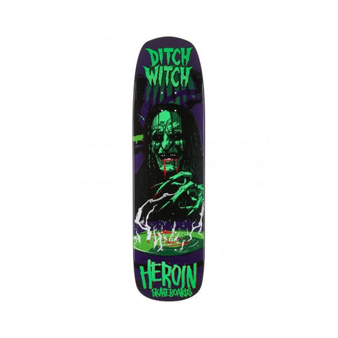 "Heroin Skateboard Deck Ditch Witch 8.9"" x 32.4""-50-50 Skate Shop"