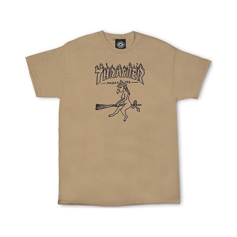 Thrasher Witch Short Sleeve Tee Tan-50-50 Skate Shop