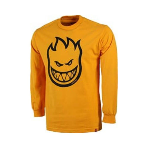 Spitfire Youth Long Sleeve Tee Bighead Gold Black-50-50 Skate Shop