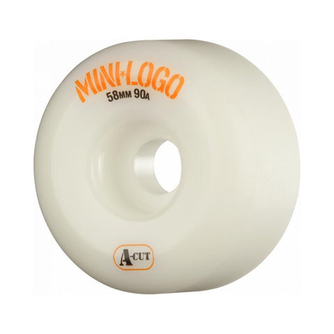 Mini Logo Wheels A-Cut Hybrid White 58mm x 90A - 50-50 Skate Shop
