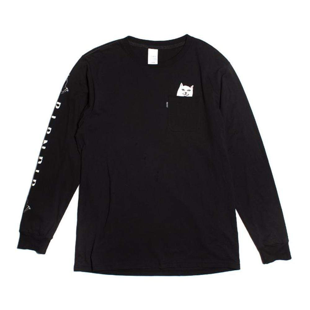 Ripndip Lord Nermal Long Sleeve Tee Black - 50-50 Skate Shop